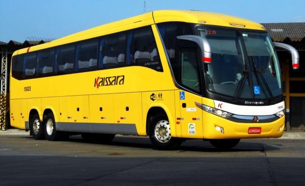 Ônibus interestadual da Viação Kaisara.