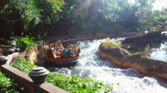 As corredeiras do Kali River Rapids.