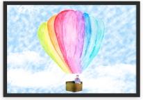 Um lindo balão colorido na sua parede.