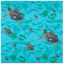 E você pode levar esta tartaruga para colocar na sua parede sem medo de machucar. Esta peça é um azulejo decorativo.
