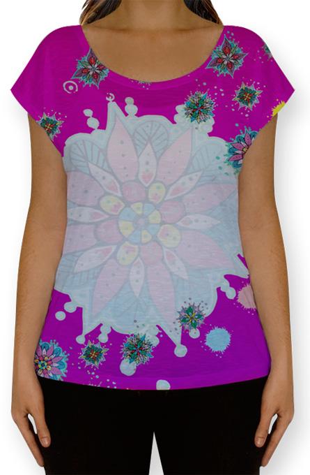 Uma blusinha com efeito gradiente.