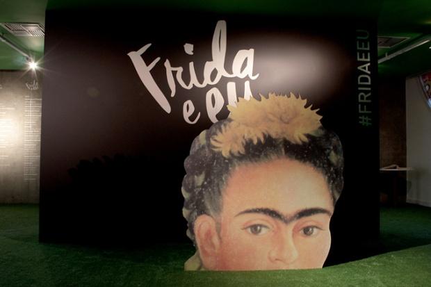 A entrada da Exposição Frida e Eu. Vá ao terceiro andar da Unibes Cultural.