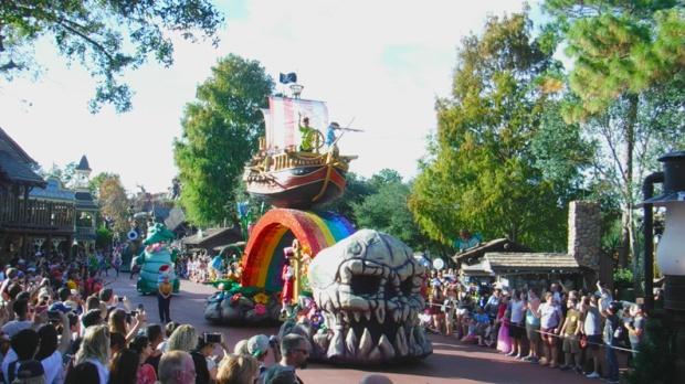 O carro temático de Peter Pan...