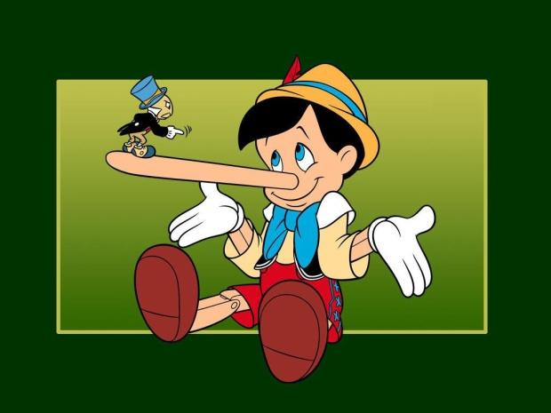 Pinóquio - O mentiroso mais famoso do mundo.