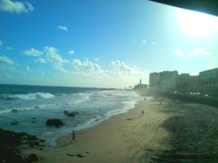 E essa é a Praia da Barra, eu acho.