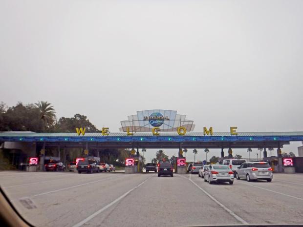 Entrada do Parque Universal Studios em Orlando.