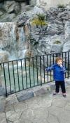 Cachoeiras e crianças. Mas com segurança.