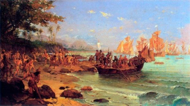 O Desembarque de Cabral, de Oscar Pereira da Silva.