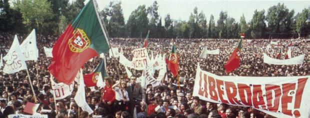 Protestos históricos de 1º de maio em Portugal.