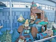 Os Sete Anões feitos de Lego.