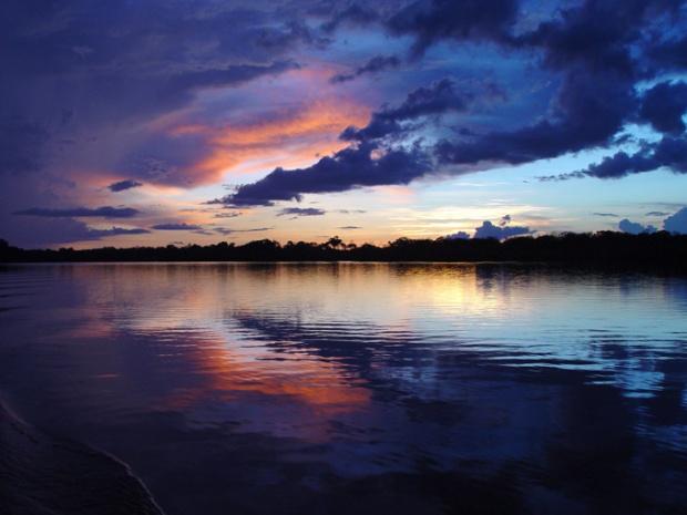 Pôr-do-Sol na Amazônia.