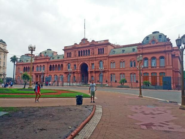 A Casa Rosada, sede do governo argentino.