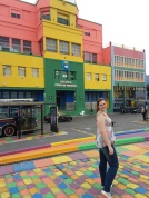Escolas, prédios, casas coloridas de El Caminito.