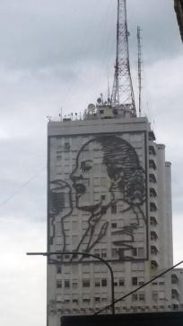 Homenagem a Evita Perón.
