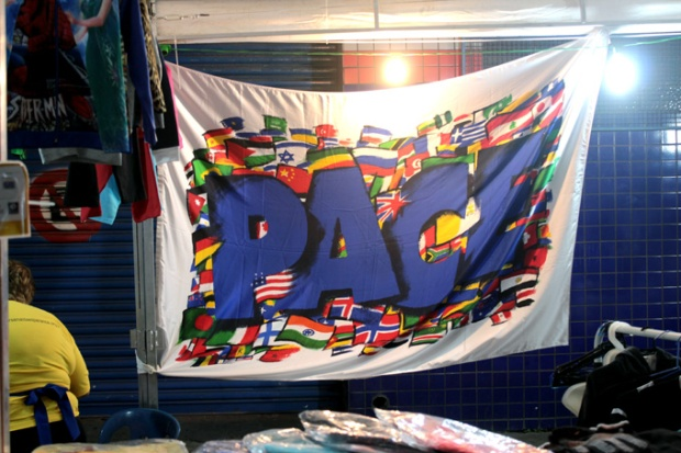 Bandeira do Instituto PACE, para a paz mundial.