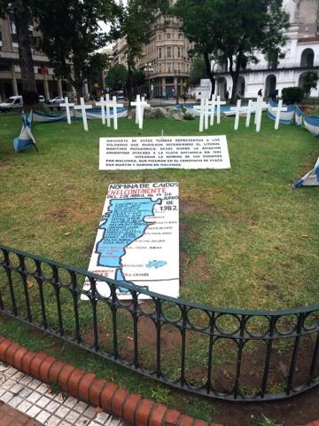 Monumento aos soldados mortos na Guerra das Malvinas.
