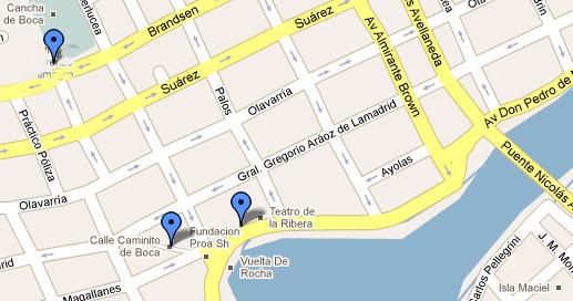 Um mapa para ter ajudar a encontrar El Caminito.