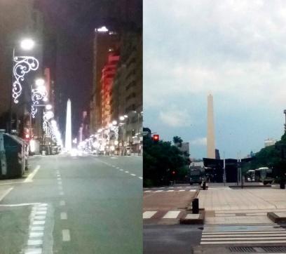 O Obelisco à Independência, de 9 de Julho