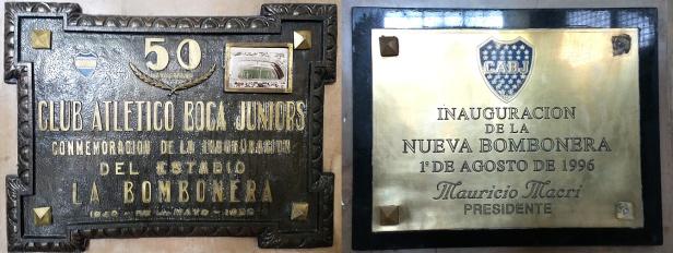 Placas comemorativas.