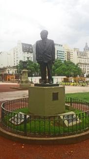 Argentinos homenageiam seus políticos.