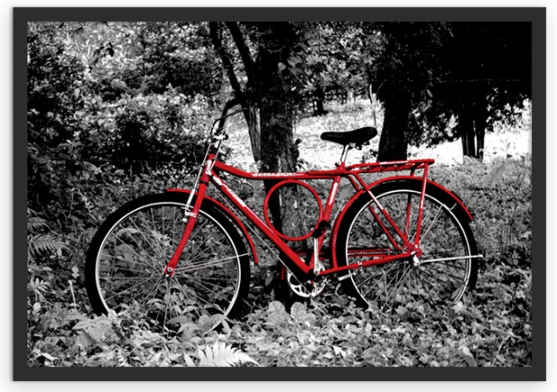 Uma paisagem do campo. Lá se usa muito bicicleta.