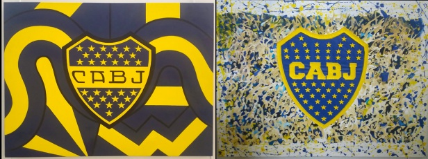 Antigos brasões do Boca Juniors.