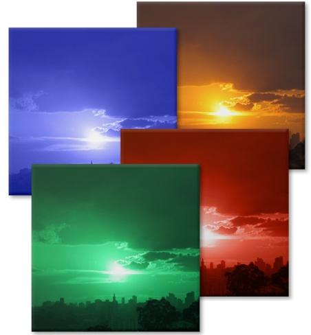 Ímãs de várias cores, que também são porta-copos.