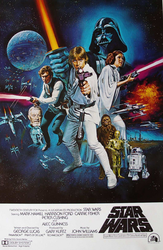 O poster original de Star Wars - A New Hope.