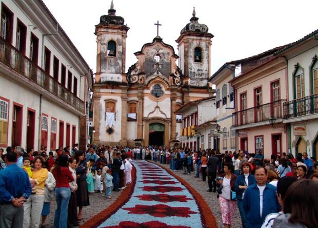 Cidade baixa de Ouro Preto, Minas Gerais.