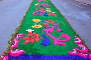 Flores, vinho, serragem e criatividade em Flores da Cunha, no Rio Grande do Sul.