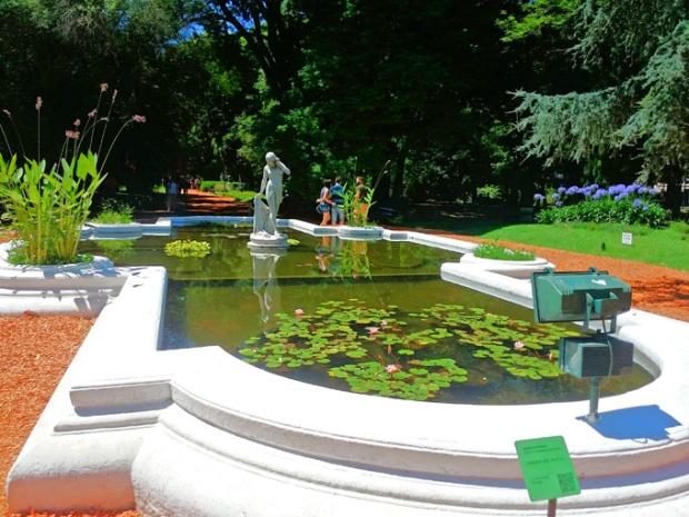 Lago artificial do Jardim Botânico de Buenos Aires.