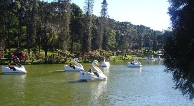 O Lago Negro de Gramado. O clima e a vegetação lembram muito a Alemanha.