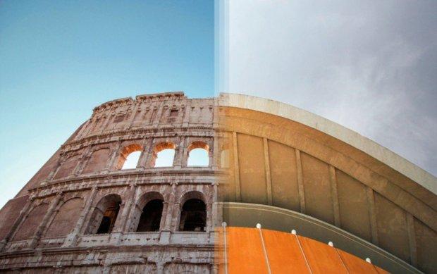 Arquitetura da Itália comparada à arquitetura da Alemanha.