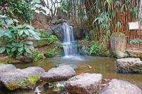 A cachoeira do Jardim Japonês no bairro da Liberdade.