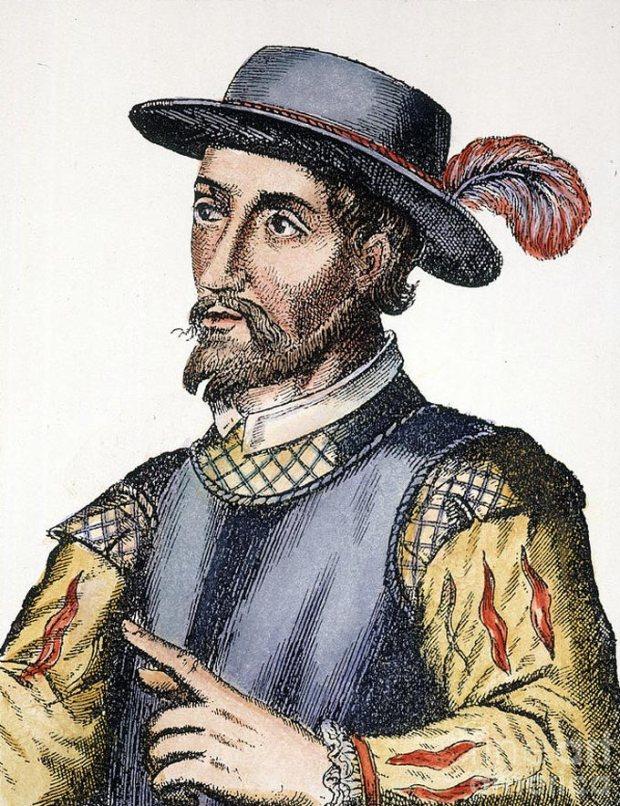 O famoso Ponce de León, que queria ser jovem para sempre.