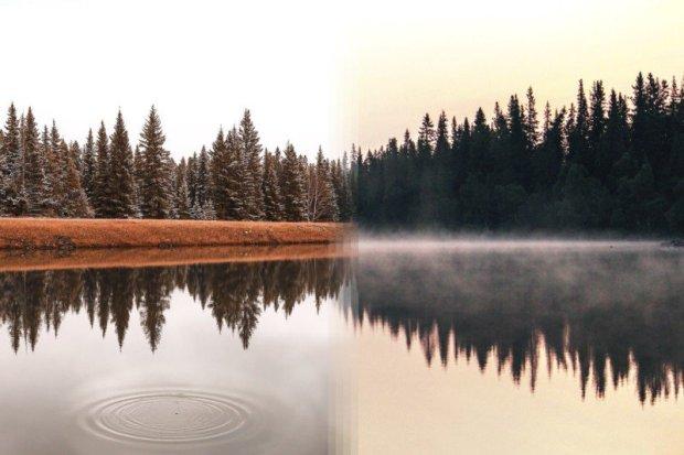 Lago Alberta, no Canadá e lago Jarpen, na Suécia.