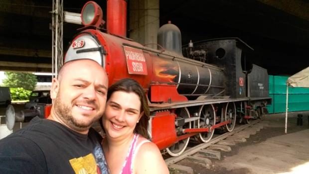 Nosso querido Casal Viajante se despedindo de Buenos Aires.