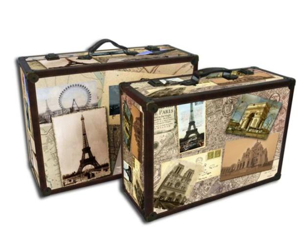 Clássicas e charmosas. Capriche na identificação. Você não vai querer perder malas tão bonitas.