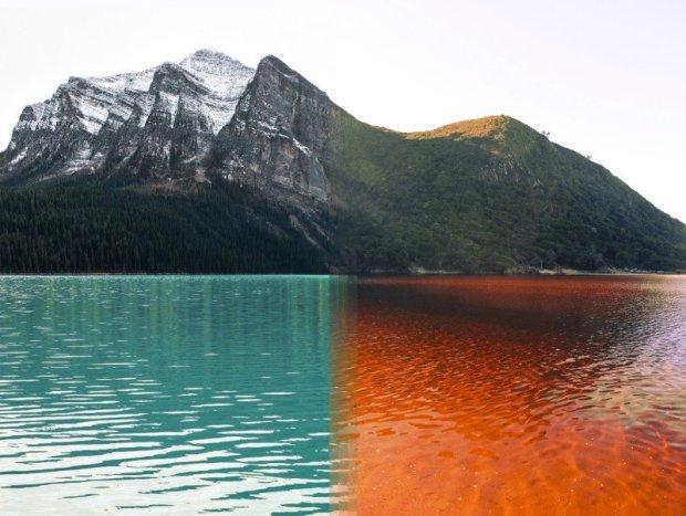 Parque nacional Banff, Canadá e Parque nacional Tsitsikamma, África do Sul.