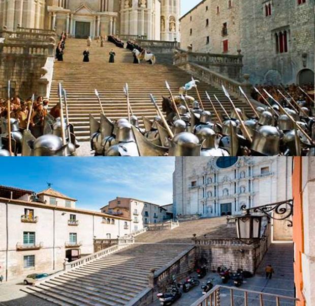 Escadarias de Porto Real -Girona, Espanha.