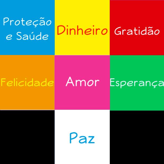 O significado das cores de cada tanzaku.