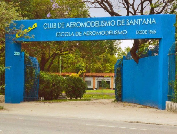 Entrada do CASA - Clube de Aeromodelismo de Sant'ana.