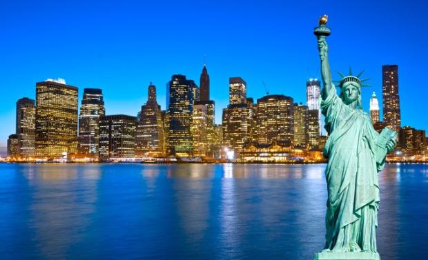 O Skyline de Nova Iorque e a Estátua da Liberdade. Foto: Royal Holiday.