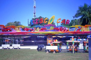 Parque de diversões da Expoflora.