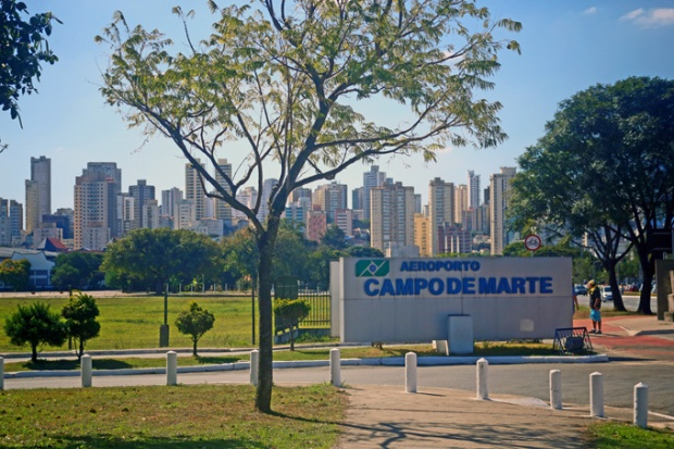 A entrada principal para o Campo de Mate na Av. Santos Dumont.