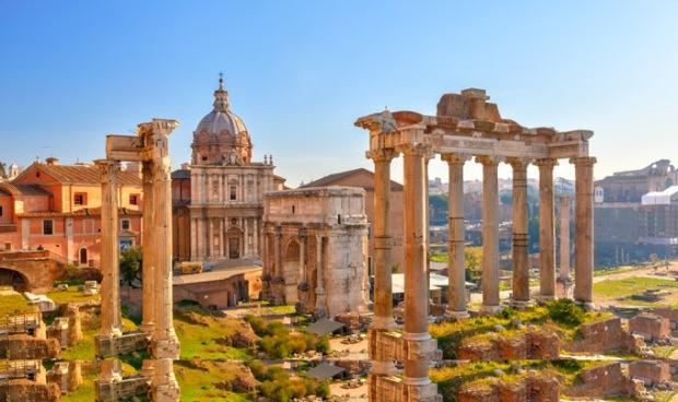As ruínas do Império Romano em Roma, Itália. Foto: Royal Holiday.