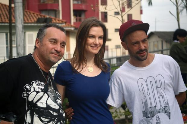 O trio grafiteiro. A Vila Madalena é lugar de muita arte e cultura.