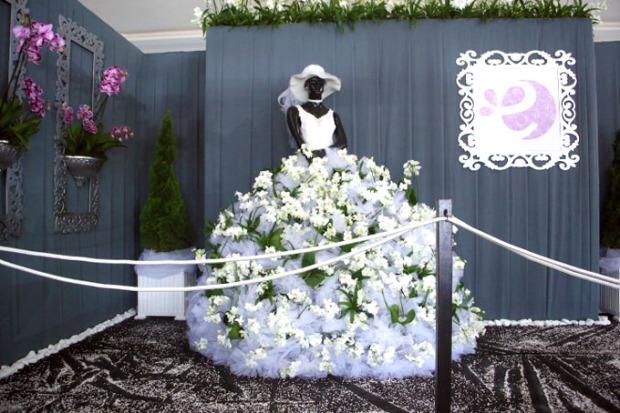 As mulheres vão adorar o vestido de noiva da Expoflora.