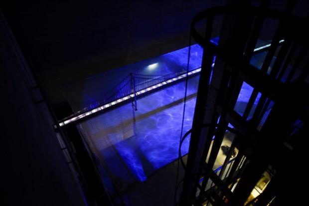 Realidade virtual na Experiência Pilar 7, na Ponte 25 de Abril, em Lisboa.