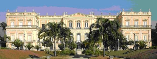 O Museu Nacional, na Quinta da Boa Vista, no Rio de Janeiro.